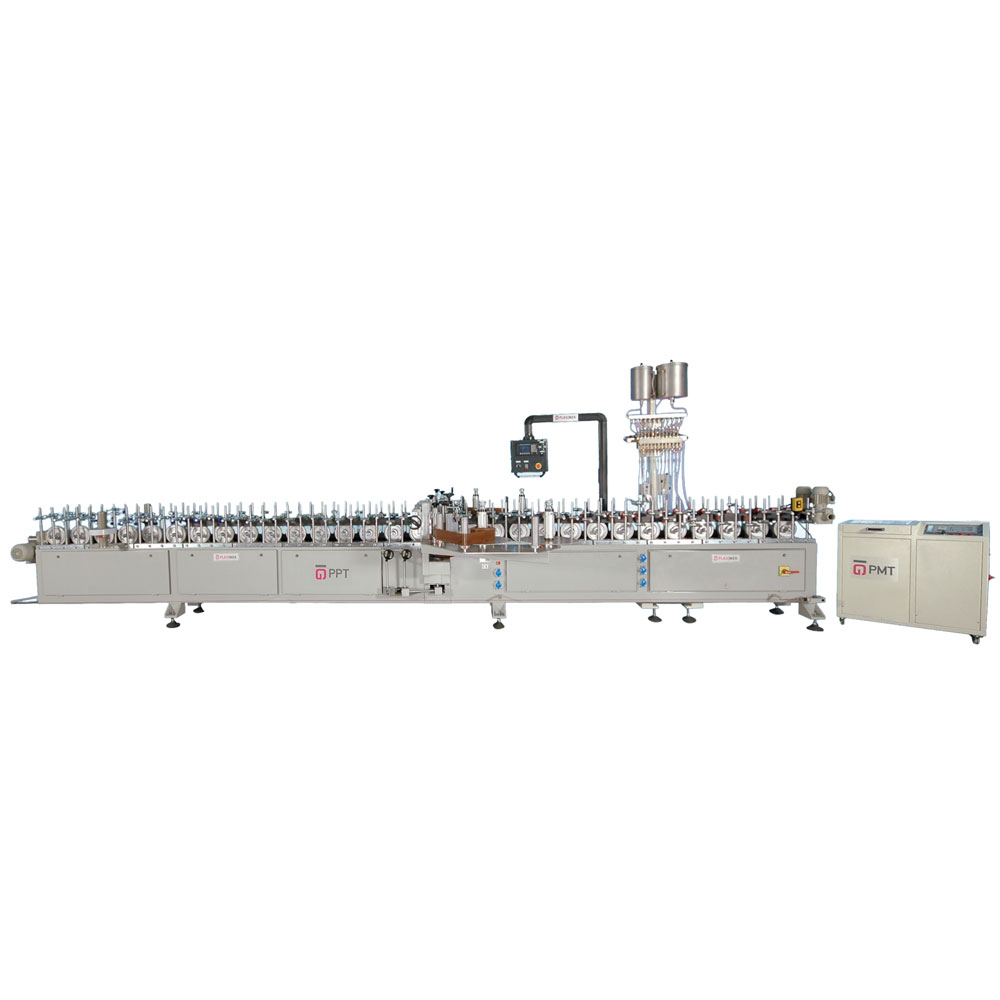 LM 200 LR P PUR HOTMELT DOUBLE SIDE VERTICAL PROFILE WRAPPING MACHINE